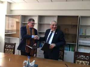 Minister of Ecology and Natural Resources Mukhtar Babayev and CNF Executive Director Geof Giacomini