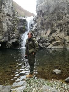 Luso at the waterfall, Algeti National Park