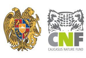Escutcheon of Armenia and Logo of CNF