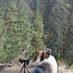 Biodiversity Monitoring – Tusheti Protected Areas Bejan Lortkipanidze from NACRES at work
